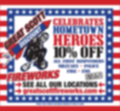 Hometown Hero Flyer for 2017  First Responders, Military, Police, Fire, EMSA workers discount