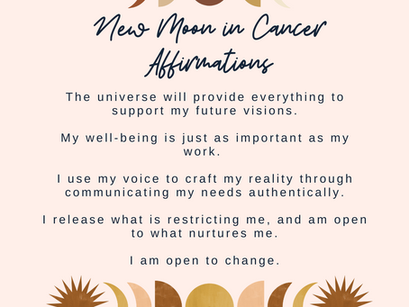 New Moon in Cancer Affirmations