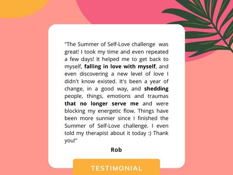 Summer of Self-Love Testimonial