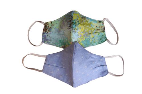 Set of 2 - Kids' Masks for Frolic Friday Sky Blue and Ocean Green
