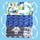 Thumbnail: Set of 3 – Adults' Three Pleated Masks Floral White, Printed Blue, Grey White