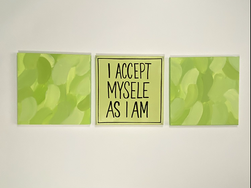 Green Canvas Quote set