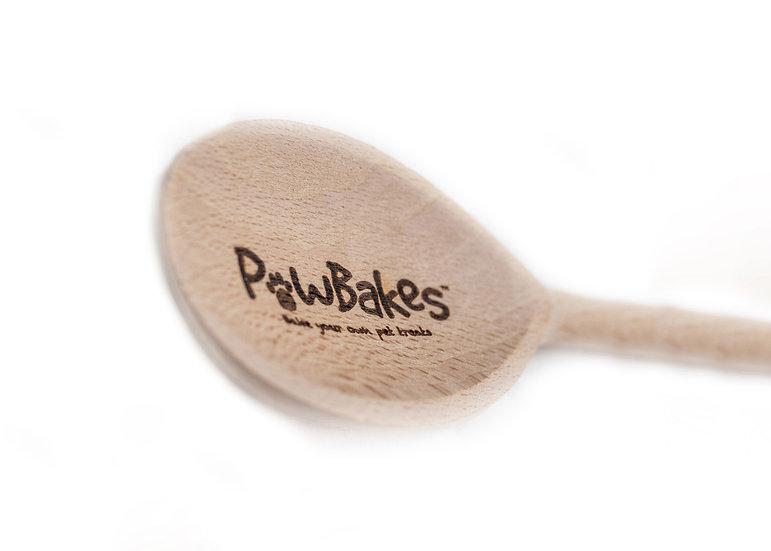 PawBakes Wooden Baking Spoon