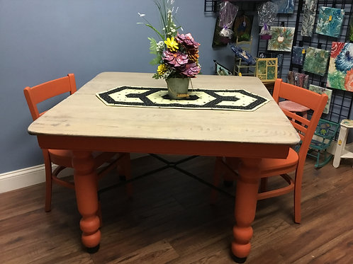 Persimmon Barn Table and Chairs