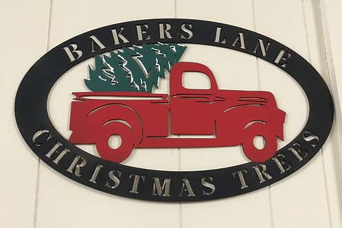 Christmas Tree and Vintage Truck