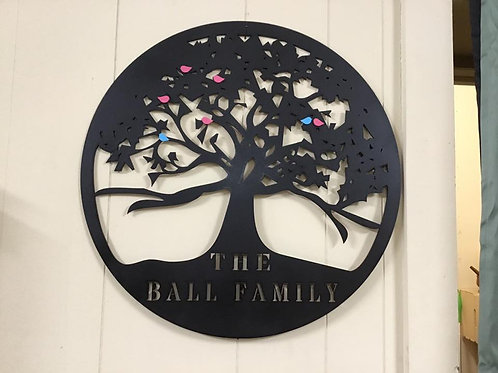 Family Tree with Birds
