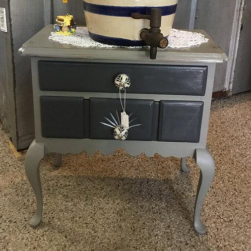 Grey Nightstand/Side table