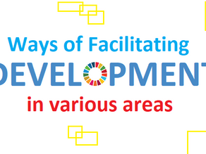 Ways of facilitating development in various areas