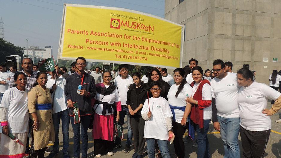 Awareness-walk-on-the-street-of-Gurgaon.
