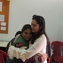 Sudha-Auluck-visits-Muskaan-with-her-fai