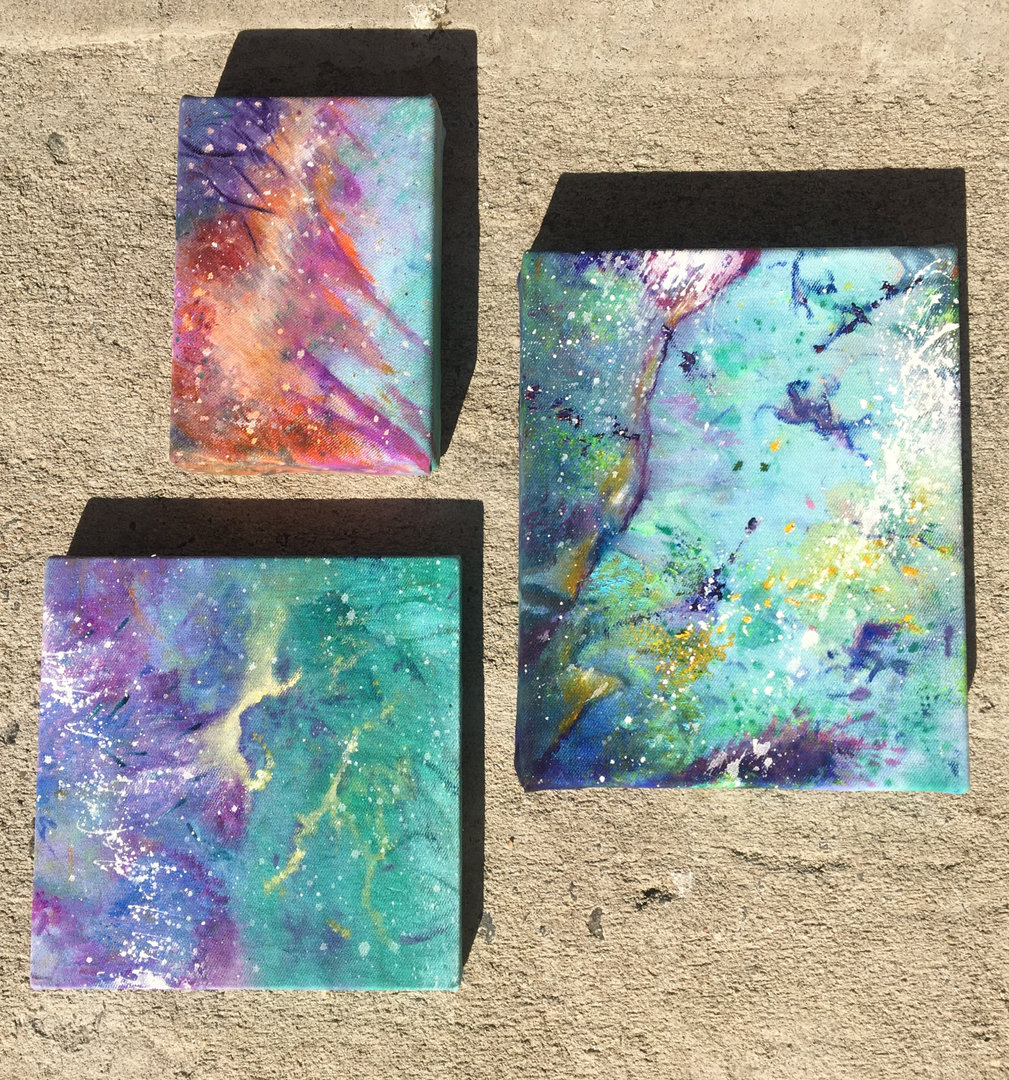 Mini Coral Paintings