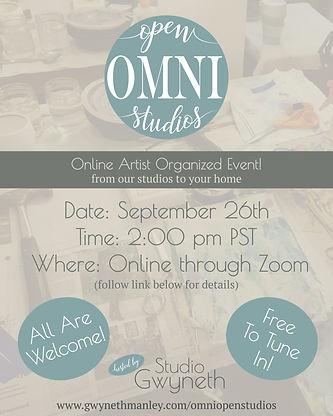 Omni Open Studios Flyer for Online Art Market