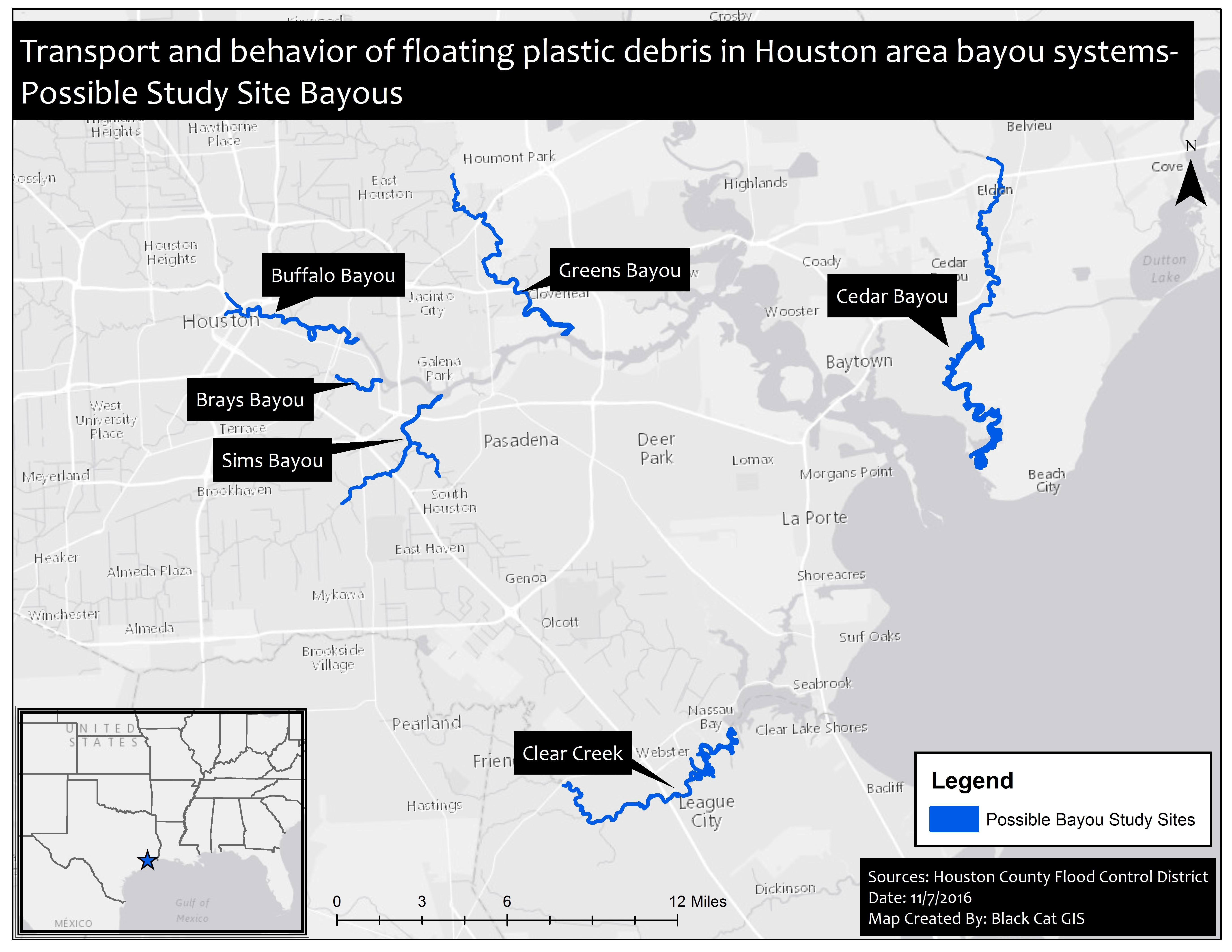 Bayou Study Sites