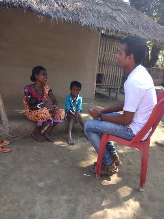 Community visit by Community mobiliser