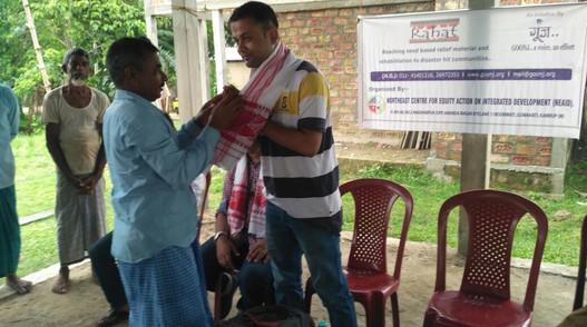 Community work in partnership with Goonj