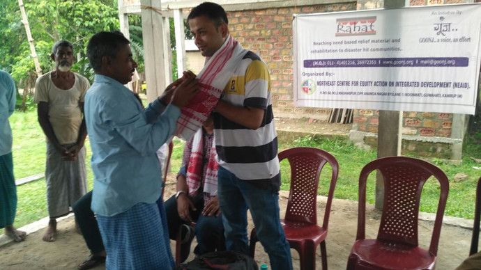 Community work in partnership with Goonj