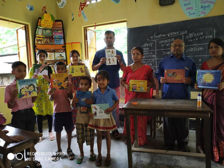 Book corner supported by Pratham