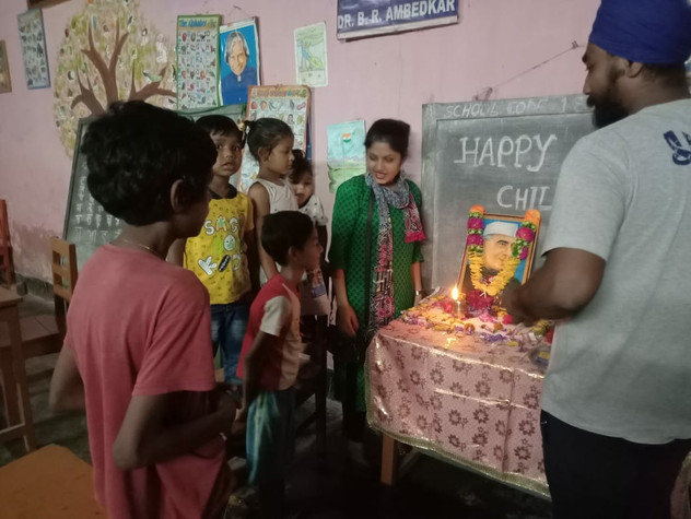 Children's day celebration in community centre with MSC team