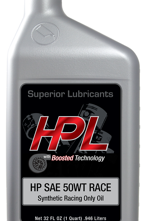 HPL 50WT RACE SYNTHETIC ENGINE OIL-CASE OF12 QUARTS