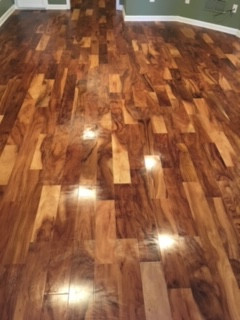 Flooring Installation with beautiful Handscraped Natural Acacia Engineered Hardwood