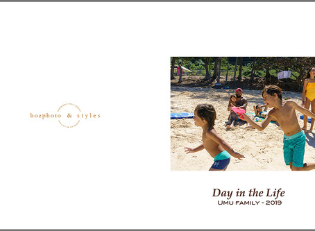 ハワイでの家族写真がアルバムになりました
