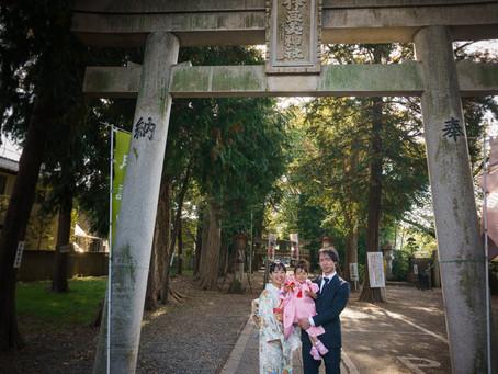 伊豆美神社での七五三撮影