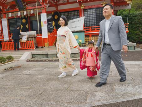 東稲荷神社での七五三撮影
