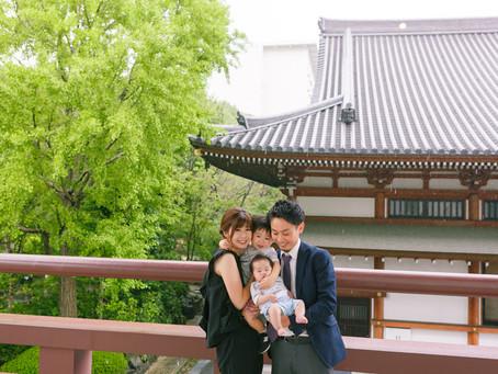 秋雨前線がやってきて - 増上寺でのお宮参り撮影