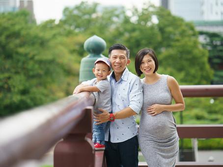 シンガポールから来たご家族のファミリーフォト