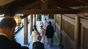 12月の小さな結婚式 明治神宮・記念館で