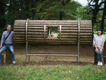 野川公園で2歳記念のファミリーフォト撮影