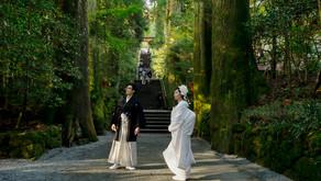 秋の箱根神社での結婚式
