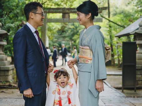 赤坂氷川神社、思い出の神社で七五三を