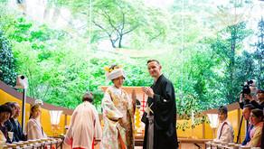 緑が見える空中神殿 ー 椿山荘での結婚式