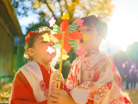 二人の小さなモデルさんと 牛嶋神社での七五三
