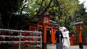 馬橋稲荷神社での結婚式