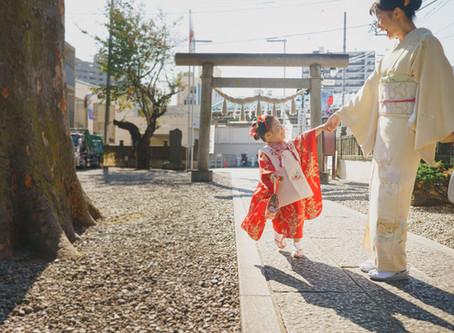 江古田浅間神社での七五三撮影