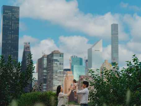 ニューヨークでファミリーフォト撮影を