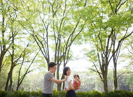 赤塚公園での一歳のお祝い