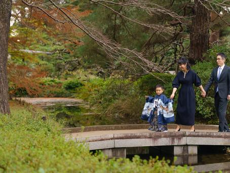 神代植物園での七五三撮影