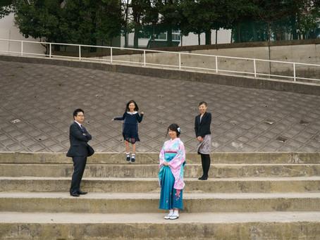 12年間ありがとう - 袴での卒業式撮影