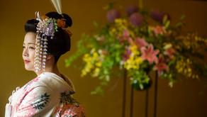 地毛結い日本髪 明治記念館での結婚式