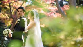 紅葉のシェラトン都ホテルでの結婚式