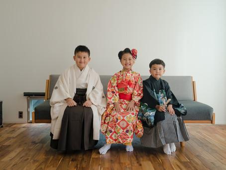 狛江市 伊豆美神社 仲良し三兄弟の七五三撮影