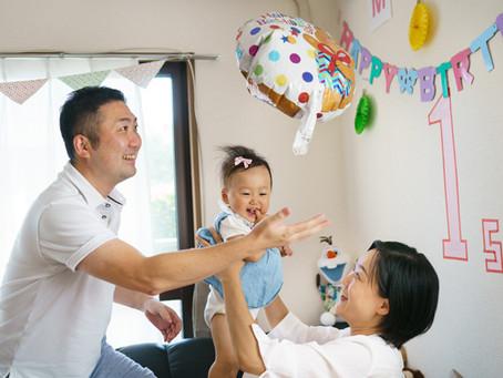 佐倉市での一歳誕生日撮影