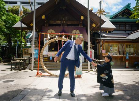 築地・波除稲荷神社での七五三撮影