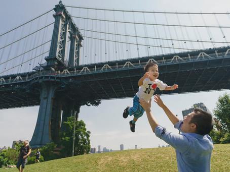 ニューヨークでの家族写真撮影