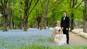 ニュージーランドからの二人と日比谷公園で結婚式