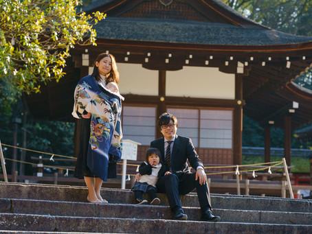 下鴨神社、世界遺産でのお宮参り撮影