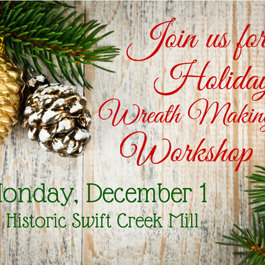 Wine and Design Your Own Holiday Wreath!